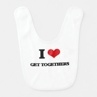 I love Get Togethers Baby Bib