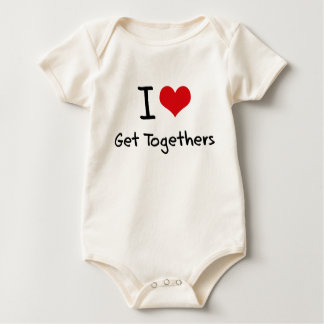 I Love Get Togethers Baby Bodysuits