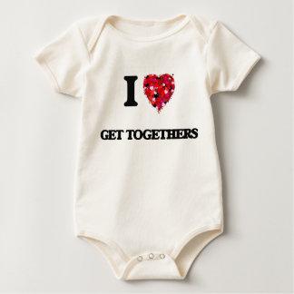 I Love Get Togethers Bodysuits