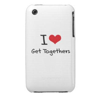 I Love Get Togethers Case-Mate iPhone 3 Case