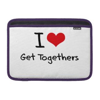 I Love Get Togethers MacBook Sleeves