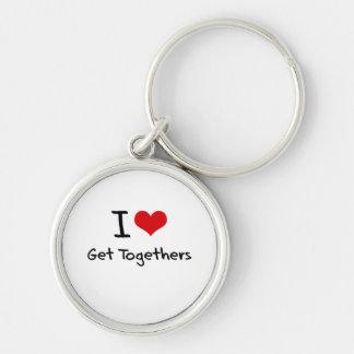 I Love Get Togethers Keychains