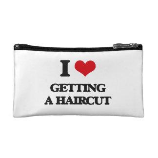 I love Getting A Haircut Cosmetic Bags