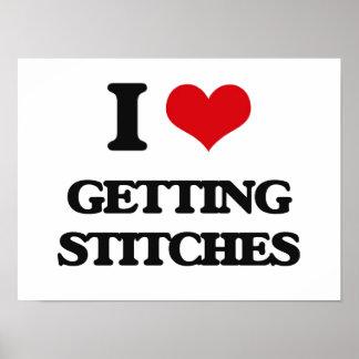 I love Getting Stitches Poster