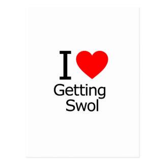 I Love Getting Swol Postcard