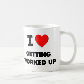 I love Getting Worked Up Classic White Coffee Mug