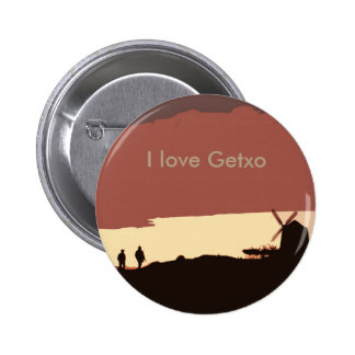 I love Getxo Pinback Button