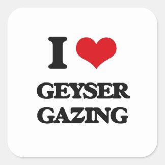 I Love Geyser Gazing Stickers