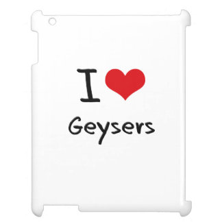 I Love Geysers iPad Case