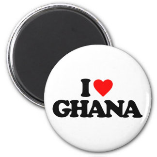 I LOVE GHANA REFRIGERATOR MAGNET
