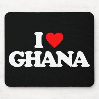 I LOVE GHANA MOUSE PAD