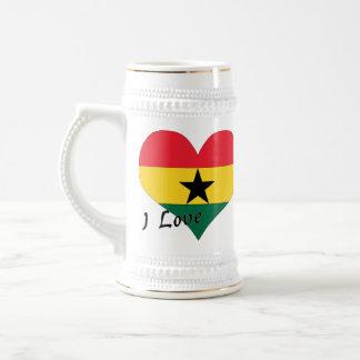 I love Ghana 18 Oz Beer Stein