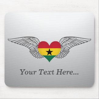 I Love Ghana -wings Mouse Pad