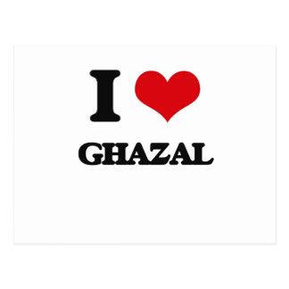 I Love GHAZAL Postcard