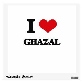I Love GHAZAL Wall Skins