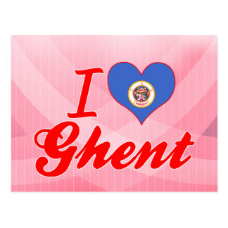 I Love Ghent, Minnesota Post Card