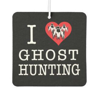 I Love Ghost Hunting Car Air Freshener