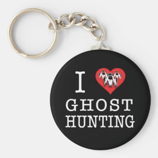 I Love Ghost Hunting Keychains