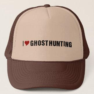 I Love Ghost Hunting trucker hat