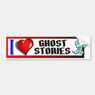 I Love Ghost Stories Bumper Sticker