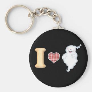 I Love Ghosts Keychain