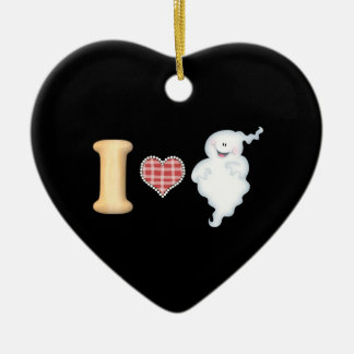 I Love Ghosts Orniment Ornament