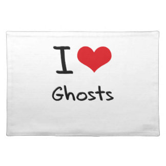 I Love Ghosts Place Mats