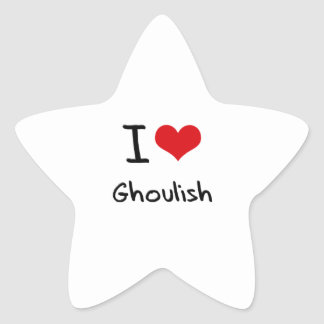 I Love Ghoulish Star Sticker