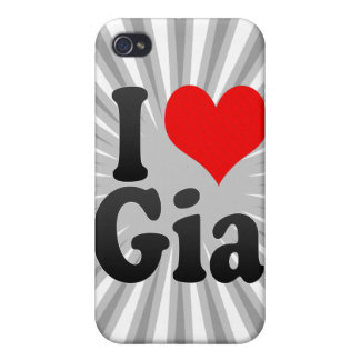 I love Gia Cover For iPhone 4