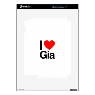 i love gia decal for iPad 2