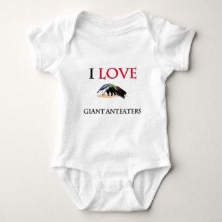 I Love Giant Anteaters Baby Bodysuit