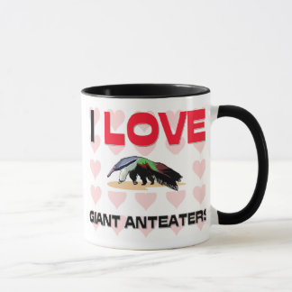 I Love Giant Anteaters Mug