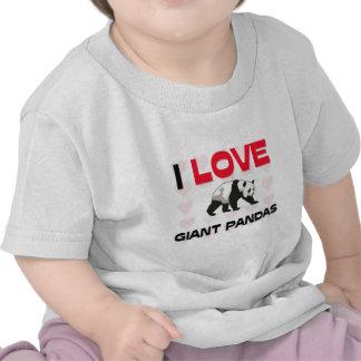 I Love Giant Pandas Tee Shirts