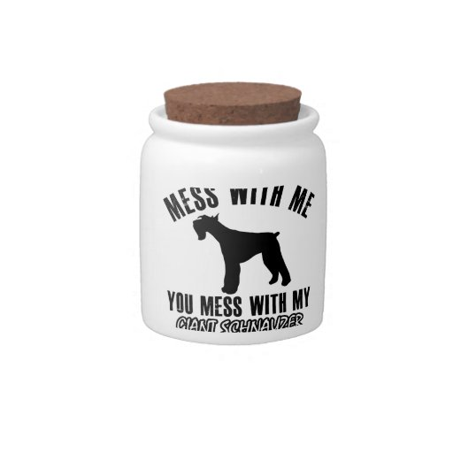 I love Giant schnauzer Candy Jar