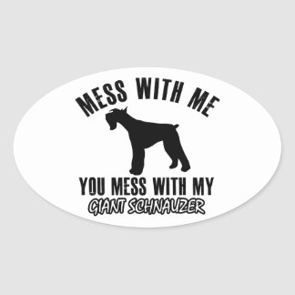 I love Giant schnauzer Oval Sticker