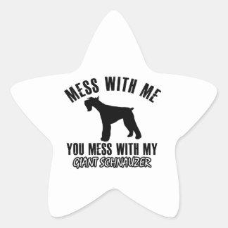 I love Giant schnauzer Star Sticker