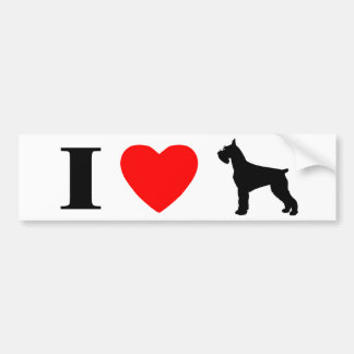 I Love Giant Schnauzers Bumper Sticker