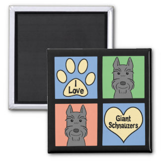 I Love Giant Schnauzers Magnet
