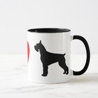 I Love Giant Schnauzers Mug