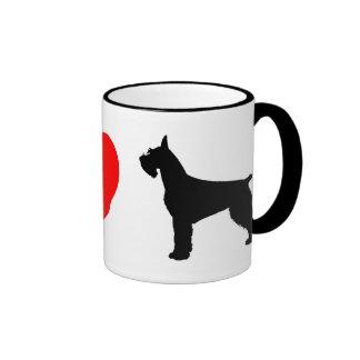 I Love Giant Schnauzers Coffee Mug