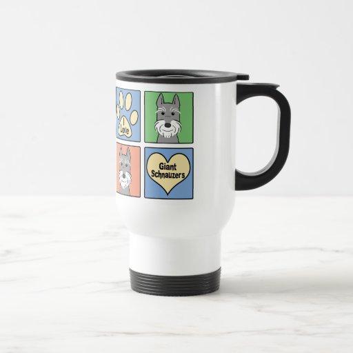 I Love Giant Schnauzers 15 Oz Stainless Steel Travel Mug
