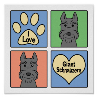 I Love Giant Schnauzers Print