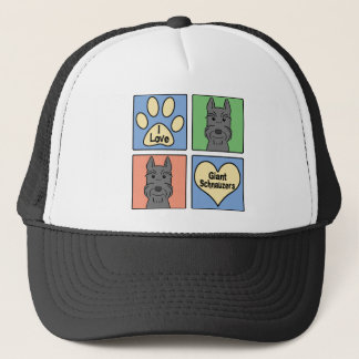 I Love Giant Schnauzers Trucker Hat