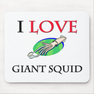 I Love Giant Squid Mouse Mat