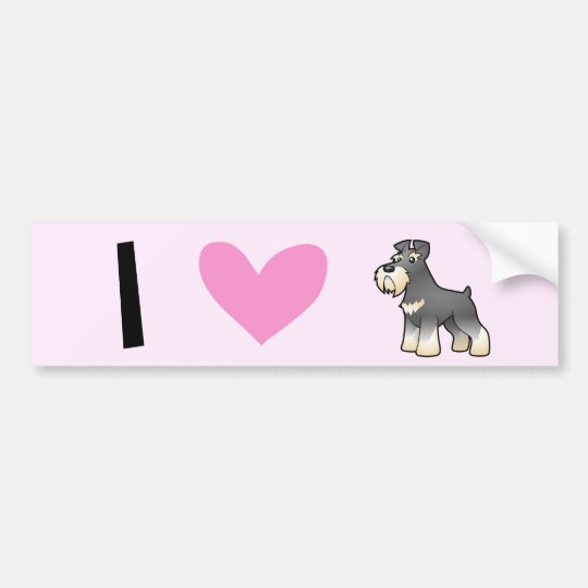 I Love Giant/Standard/Miniature Schnauzers Bumper Sticker