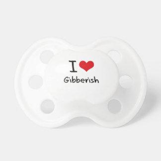 I Love Gibberish Baby Pacifiers