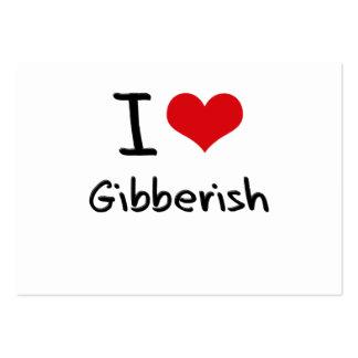I Love Gibberish Business Card Template