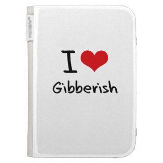 I Love Gibberish Case For The Kindle
