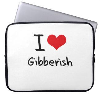 I Love Gibberish Computer Sleeves