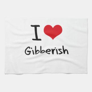 I Love Gibberish Hand Towel